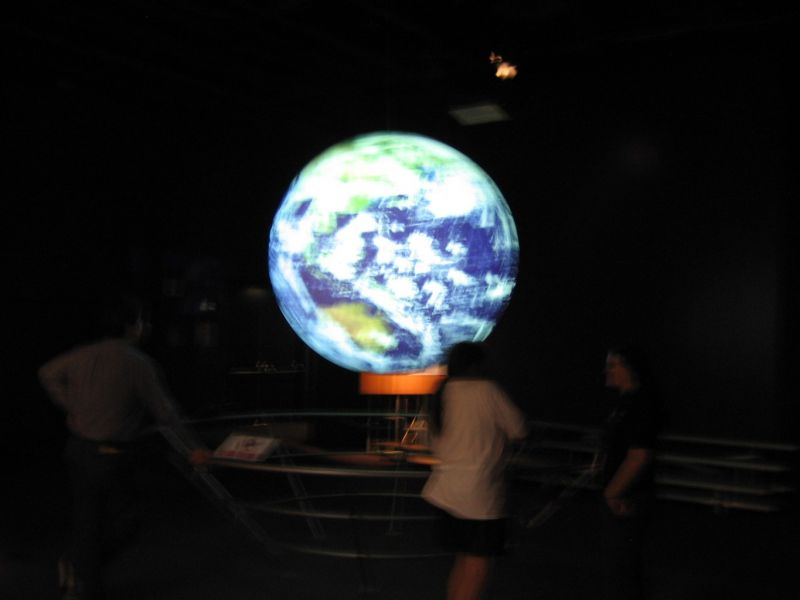 Globe with Images from 4 Projectors